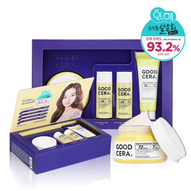 Znalezione obrazy dla zapytania olika Holika Skin and Good Cera Super Super Ceramide Cream Gift Set - cream 20ml, toner 20ml, emulsion 20ml, cream 20ml