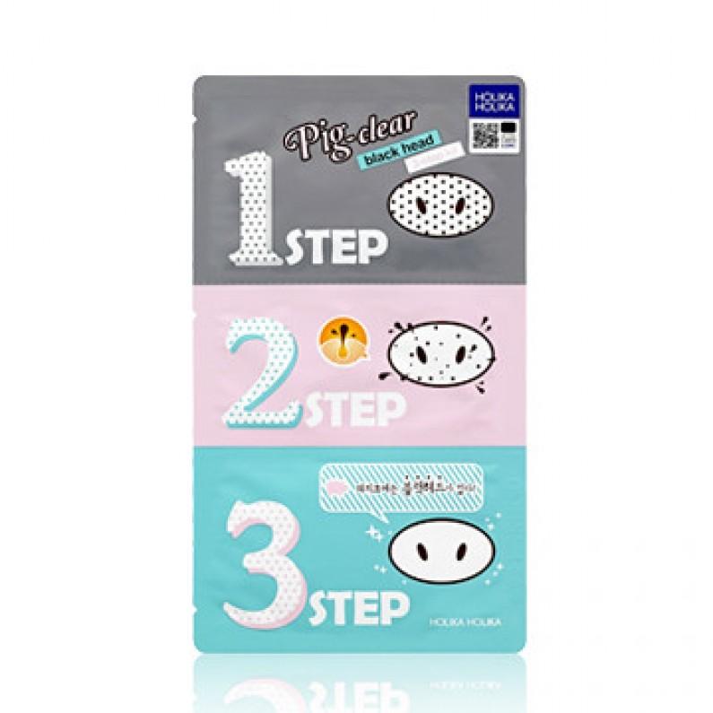 Αποτέλεσμα εικόνας για Holika Holika Pig Nose Clear Blackhead 3-Step Kit