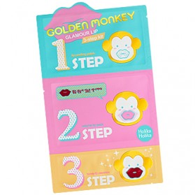 Golden Monkey Glamour Lip 3-Step Kit [3-pcs]