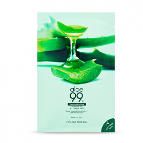 Aloe 99% Soothing Gel Jelly Mask Sheet (3-pcs)